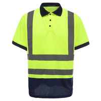 100% Cotton High Visibility Long Sleeve Button Reflective Safety