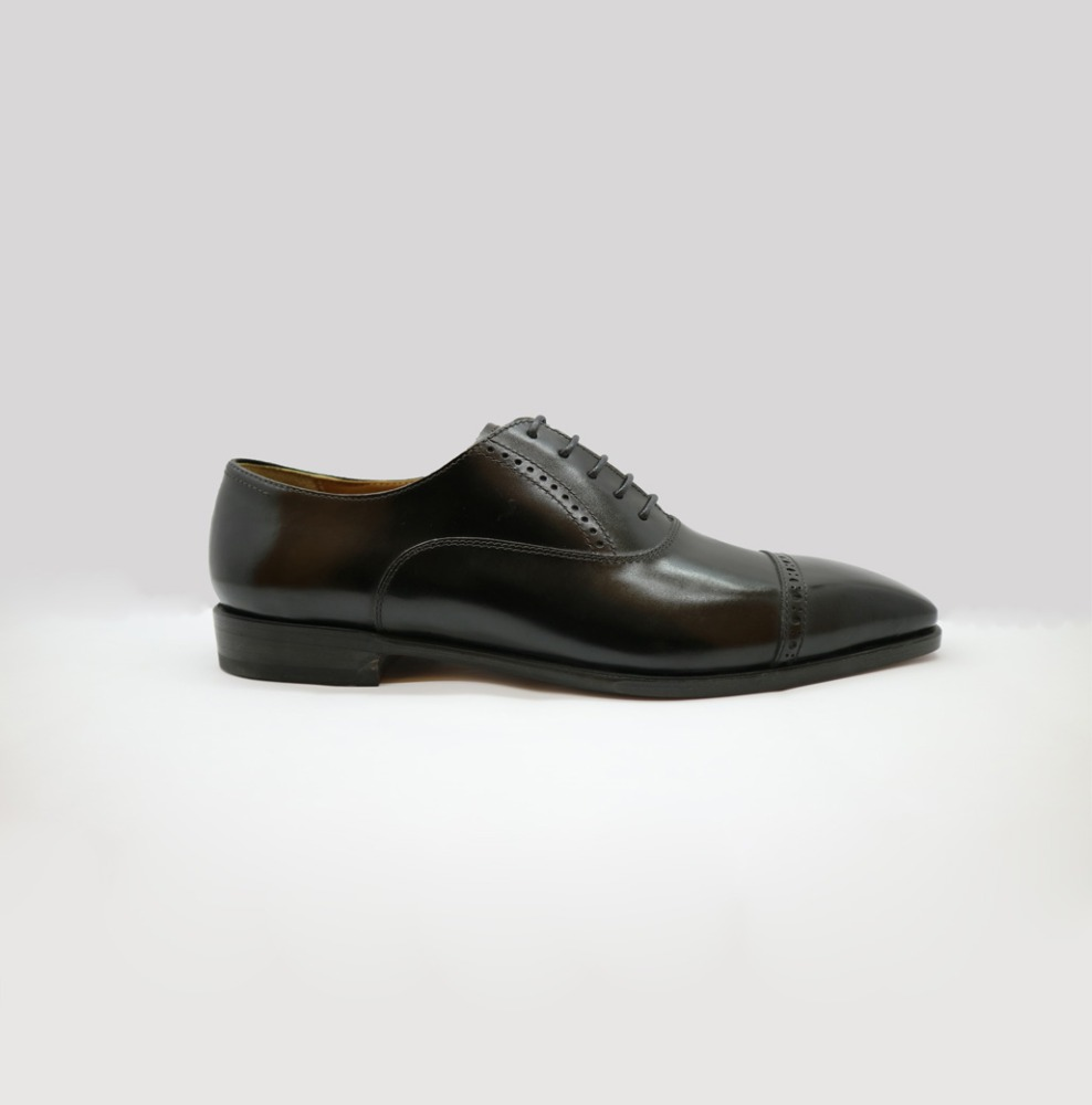 handmade shoes Oxfords hole Captoe leather man qUCE8