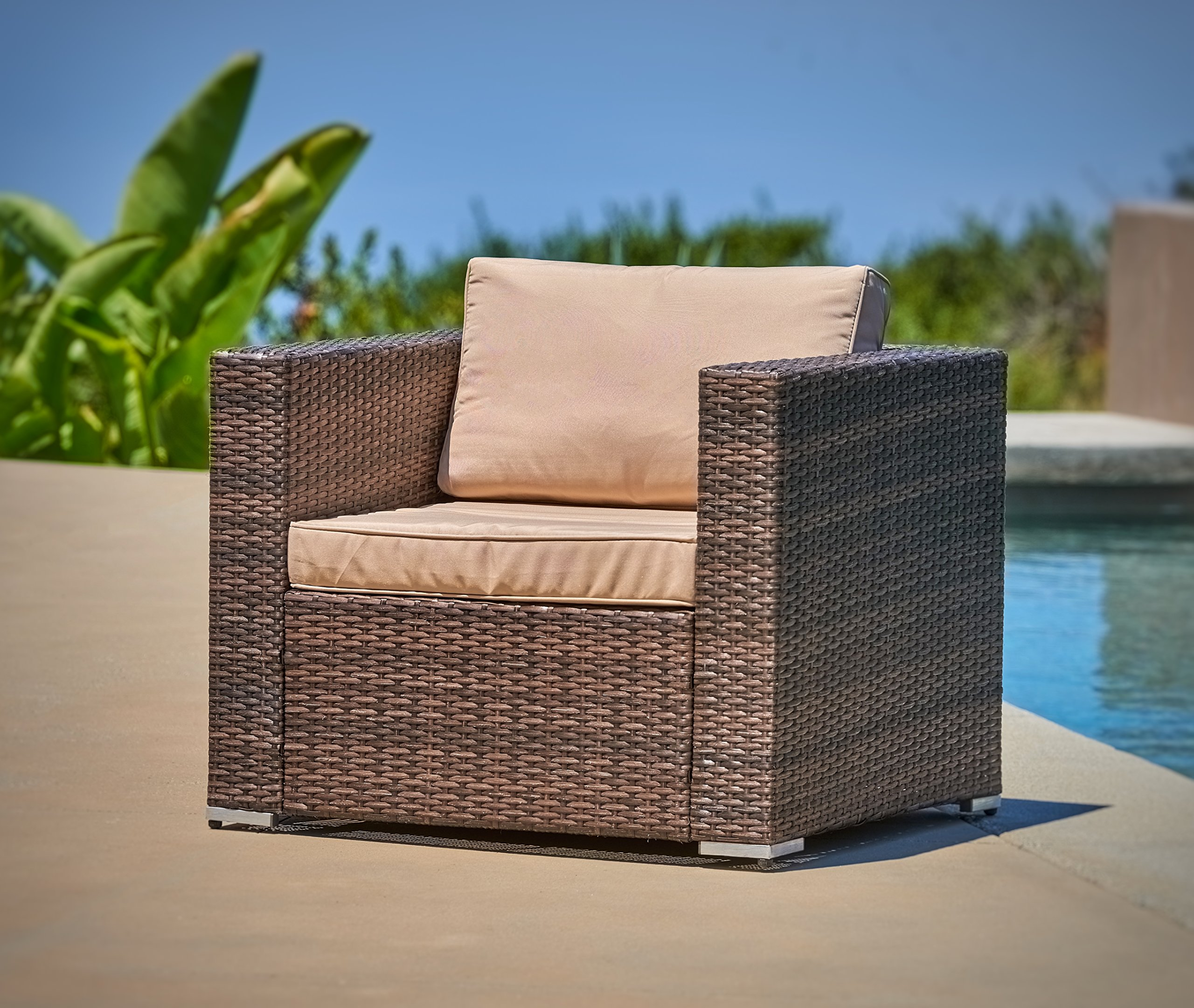 Buy Delahey Studio Converting Outdoor Sofa Brown With Green