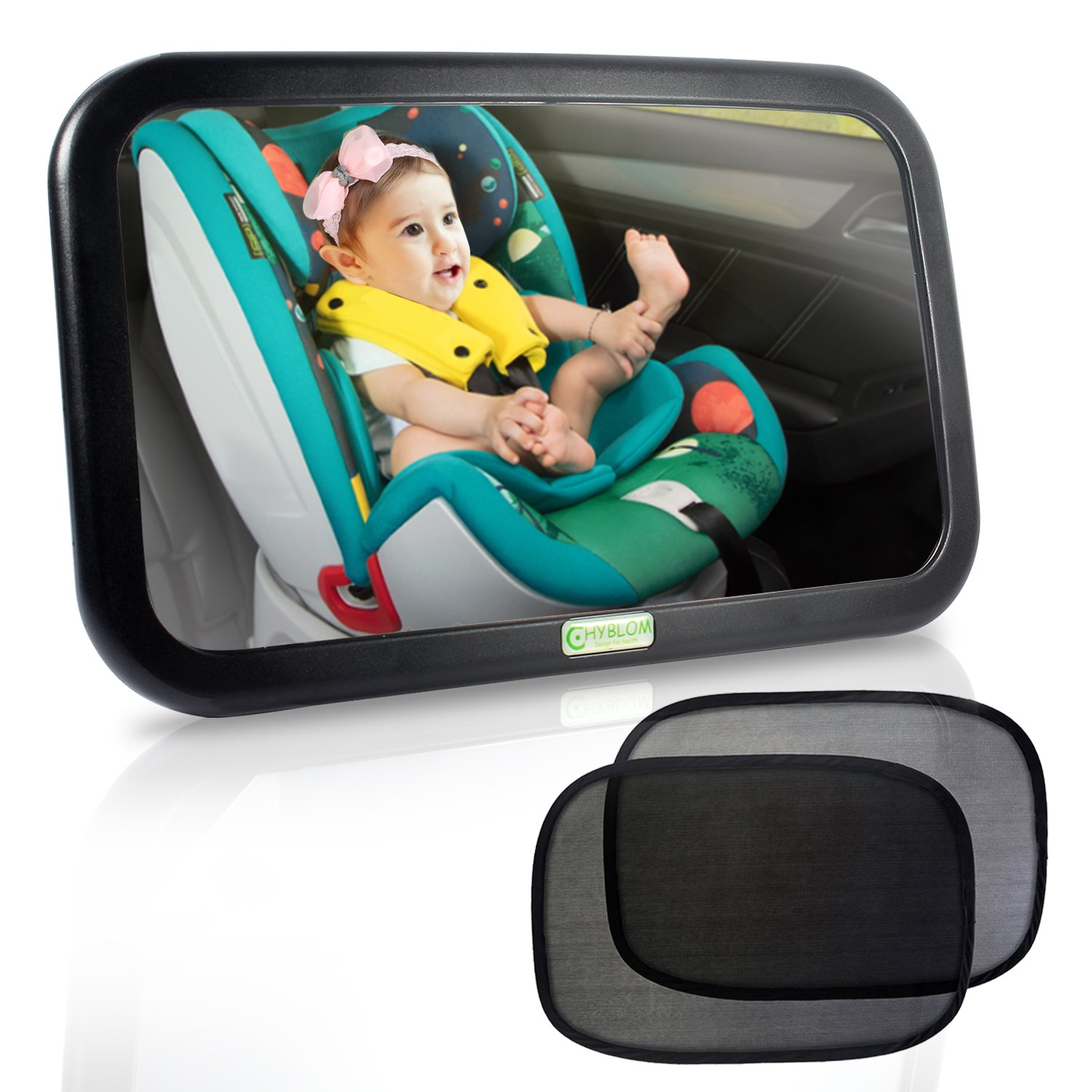 HYBLOM Baby Car Mirror For Back Seat Safety View Infant Rear Facing In