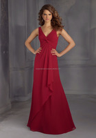Special Designs European Style Wine Wedding Bridesmaid Dresses