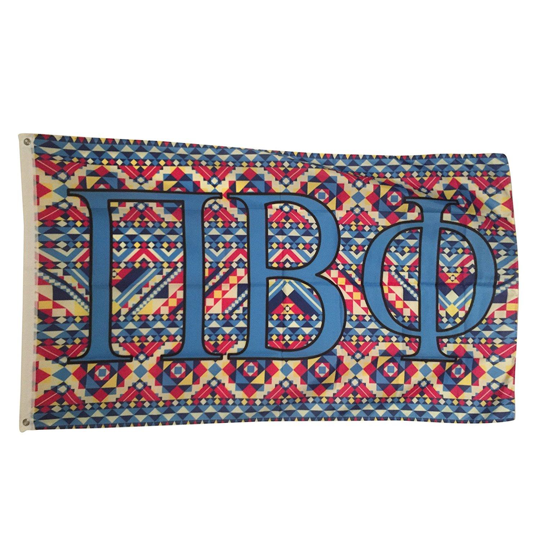 Pi Beta Phi Tribal/Aztec Letter Sorority Flag Greek Letter Use as a Banner Large 3 x 5 Feet Pi Phi