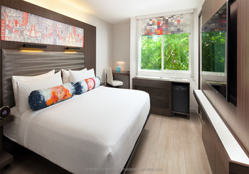 Wooden Bedroom Hotel Furniture For Aloft Sunnyvale