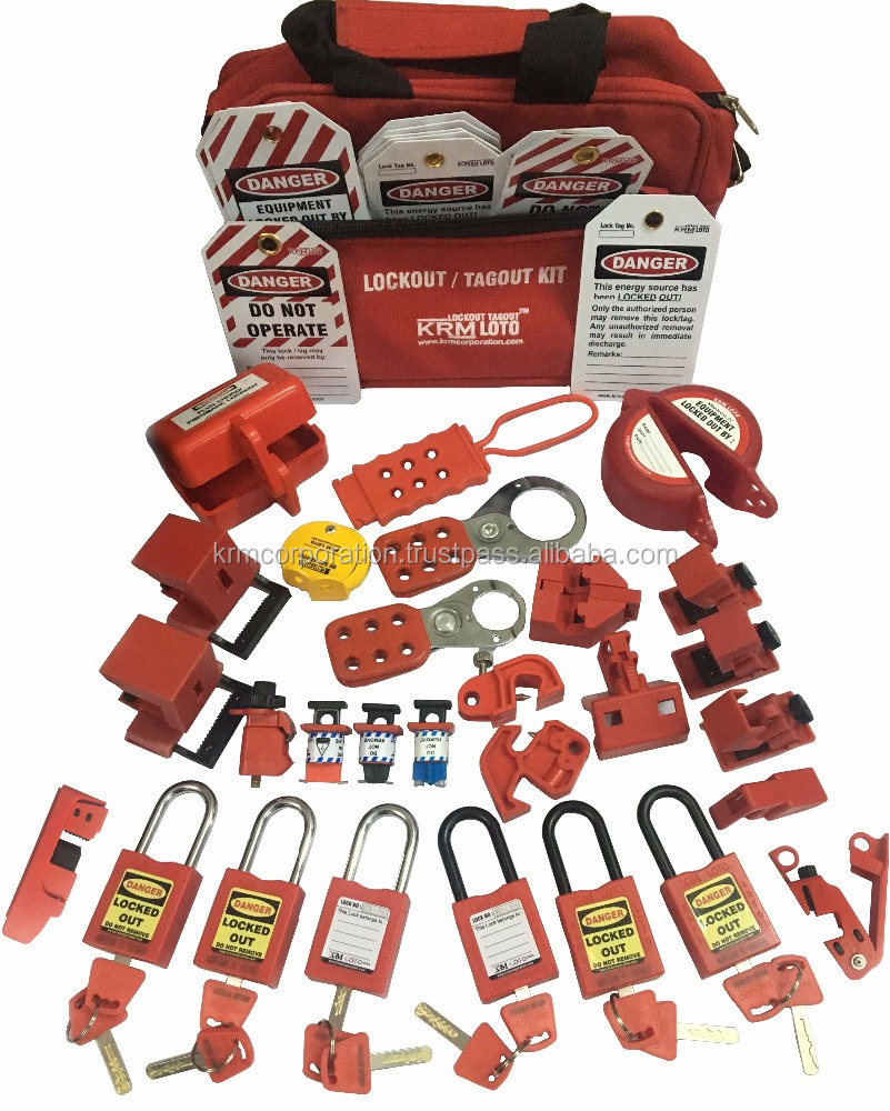 krm loto osha lockout tagout electrical kit buy lockout tagout kitelectrical loto kit product on alibabacom - Lock Out Tag Out Kits