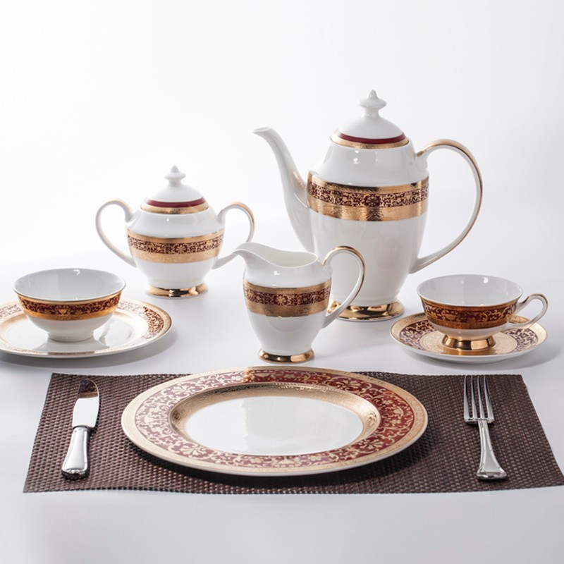 product-Two Eight-Luxury Crockery Tableware Bone China Decal Dinnerware Tea Set, Restaurant Modern L-1
