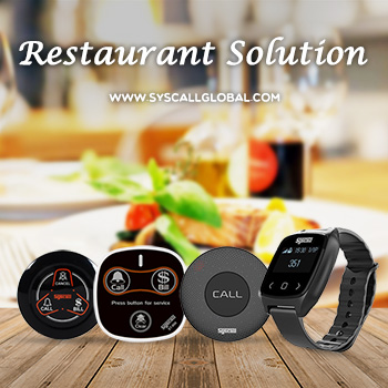 Syscall restaurant solution_Wireless calling system_Watch pager met call bell