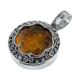 Indian Jewelry 925 Sterling Silver Amber Gemstone Pendant Handmade Jewellery Online Store