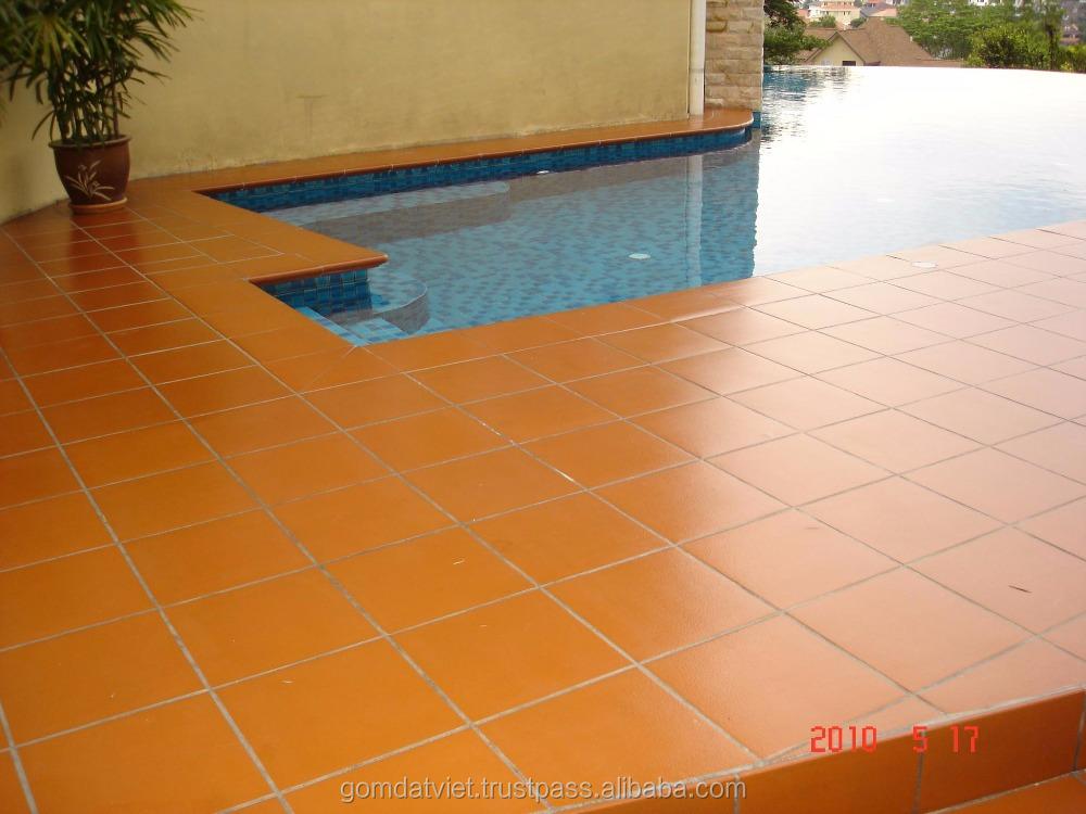 Non Slip Outdoor Terracotta Floor Tile 300x300 From Vietnamese