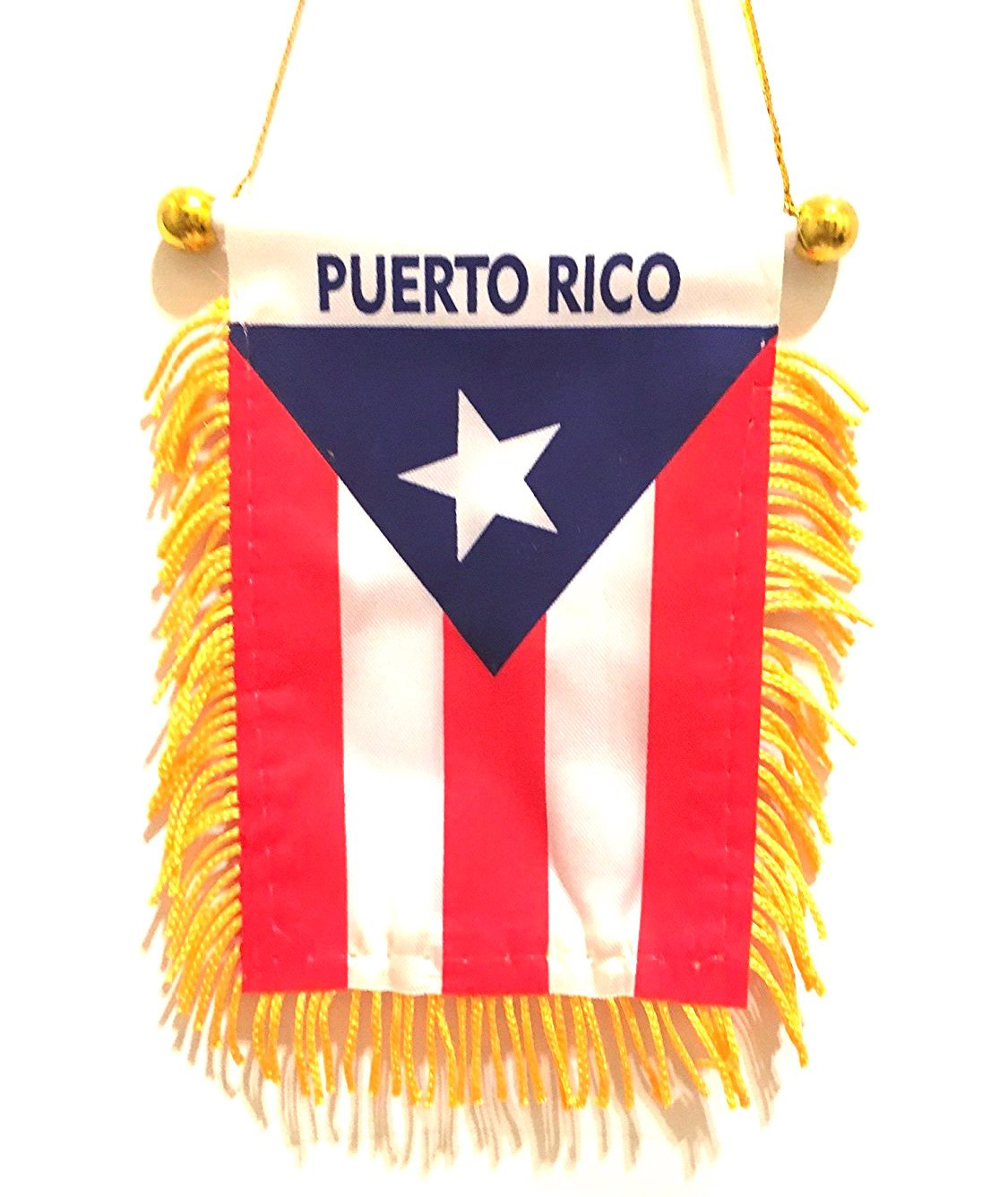 Get quotations · puerto rico mini rearview mirror mini flag boricua pride puerto rican flag