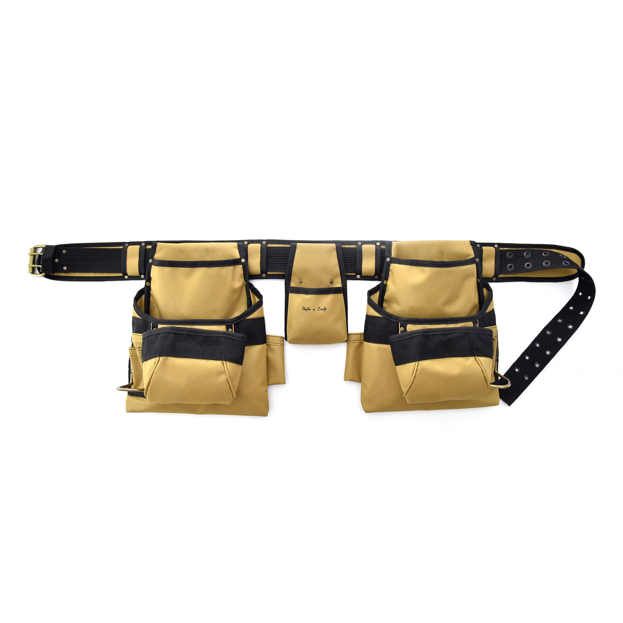 0fe8163588 Get Quotations · Style N Craft 76-422 Heavy Duty 600D Polyester 15 Pocket  Tool Belt