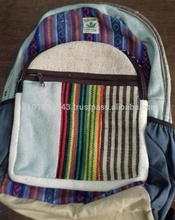 BackPack/100% cotton and Hemp backpack/Backpack bags