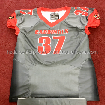 Camo design Spandex Sublimation Custom Design American Football Jersey