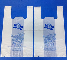 Supermarket Plastic Shopping Food carry bag with design