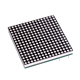 1.8mm 16x16 led matrix 40*40mm dot matrix white color