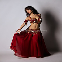 Handmade Professional Belly Dance Costume/ Dashing Belly Dance Wear- child & adult