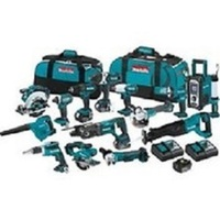 New Genuine Deals Makita LXT1500-230 18V LXT Li-Ion Cordless 15-Pc. Combo Kit