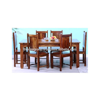 Sensational Brown Wooden Dining Table Set With Six Chair View Wooden Ibusinesslaw Wood Chair Design Ideas Ibusinesslaworg