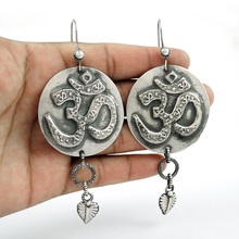 7dab0cf89 Hammered OM dangle earring handmade 925 sterling plain silver earrings  jewelry wholesale exporter
