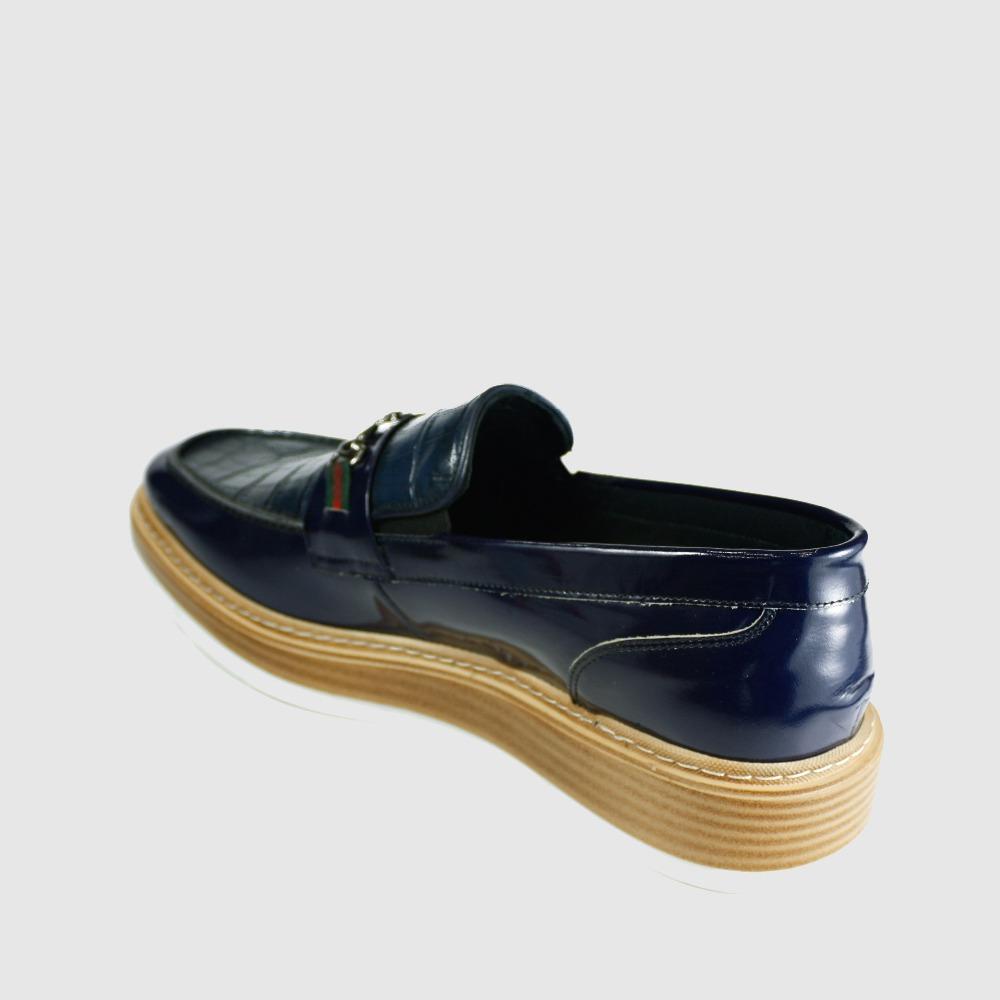Print Genuine Shoes Bulk Patent Men Shoes Designer Casual Crocodile Leather UqaTaR