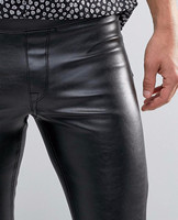 GOTHIC MOTO BIKER JEANS SKINNY ZIPPER GOTH LEATHER PANTS 100% Cotton New Fashion