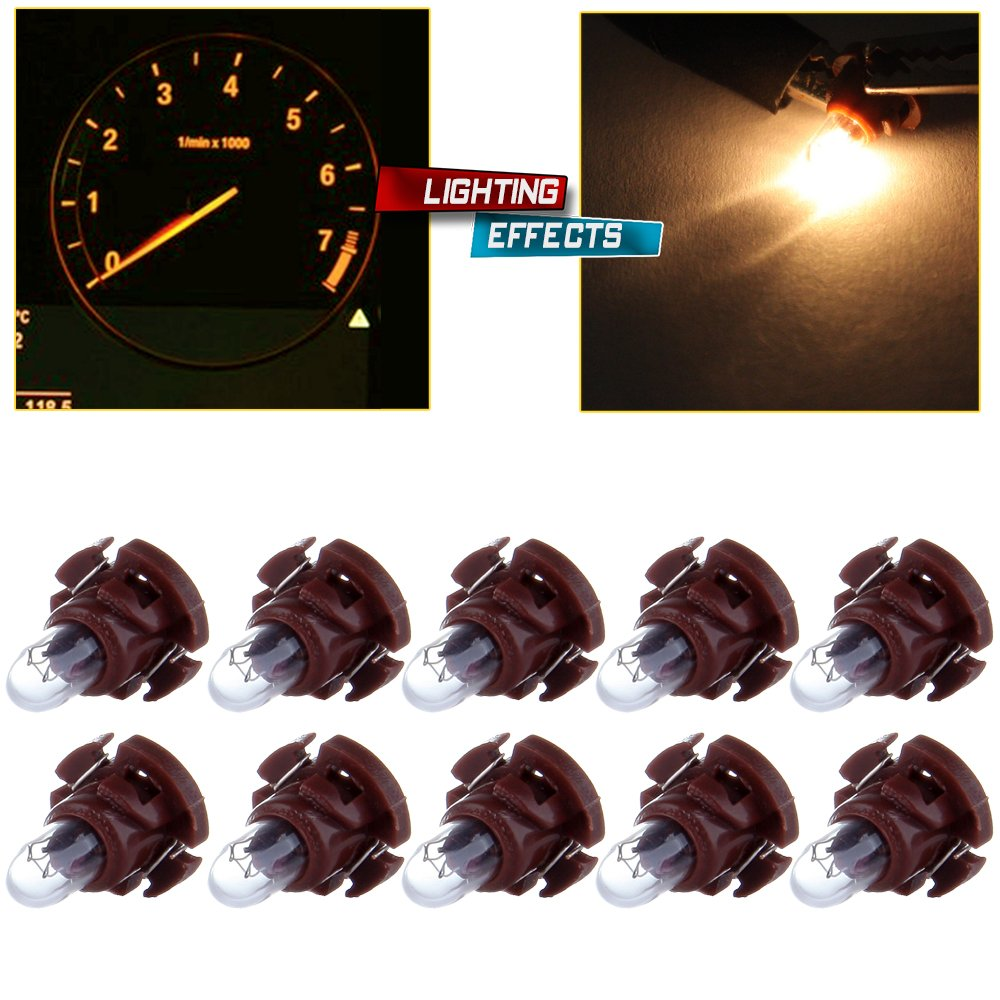 CCIYU Warm White T4/T4.2 Neo Wedge Halogen Bulb for A/C Climate Control Light,10 Pack