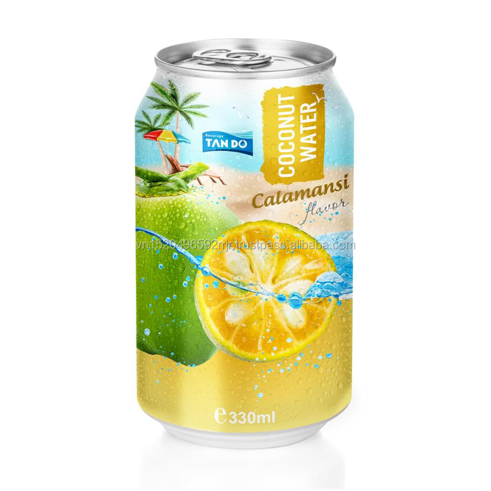 fresh not concentrate/adding calamansi juice Vietnam fresh coconut water 330ml Alu can