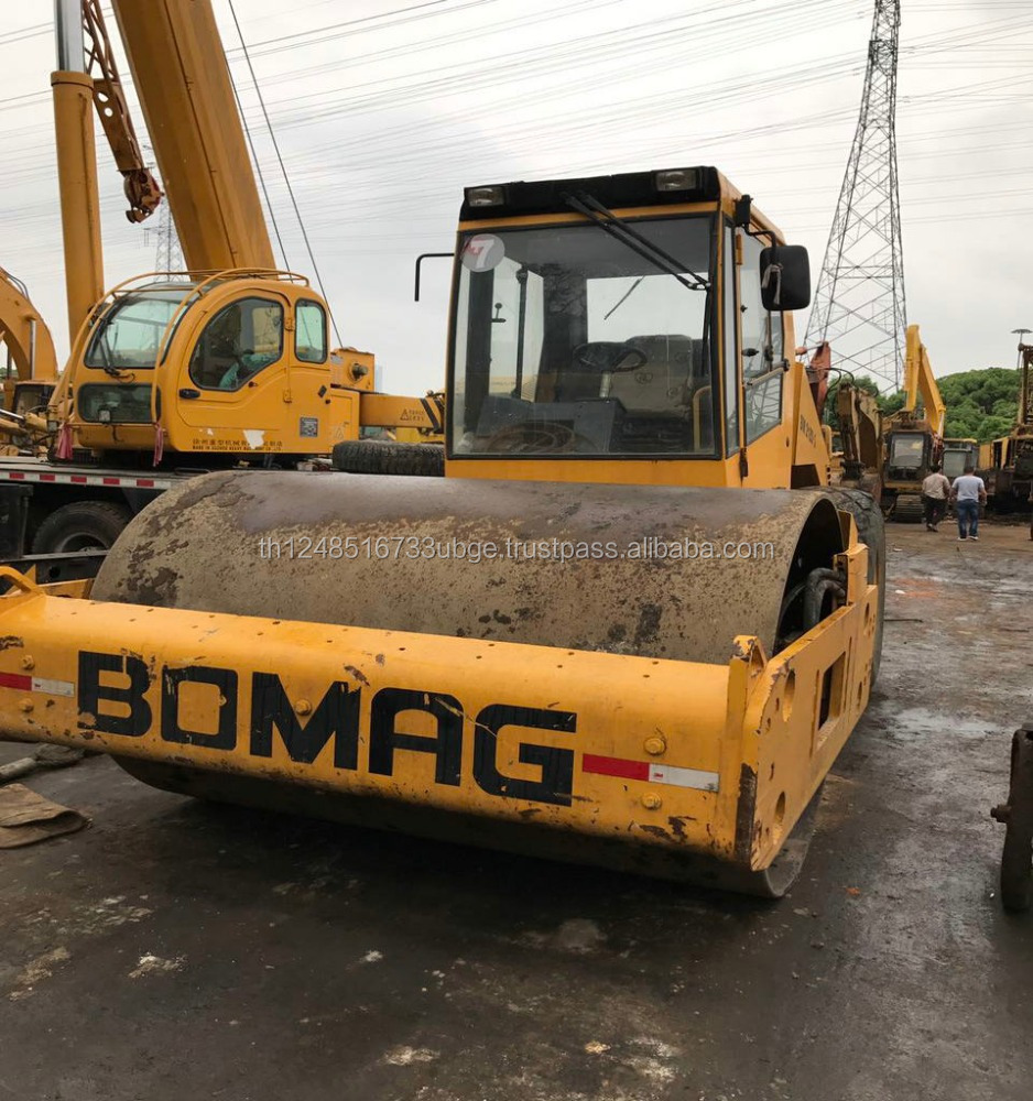 used road roller bomag bw214 with good working condition and high quality in shanghai