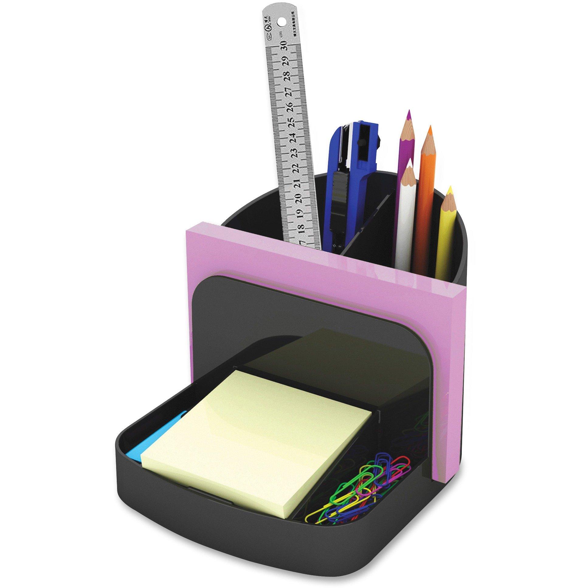 "Deflect-o Desk Caddy Organizer - Desktop, Shelf - 5"" Height x 5.4"" Width x 6.8"" Depth - Plastic - Black"