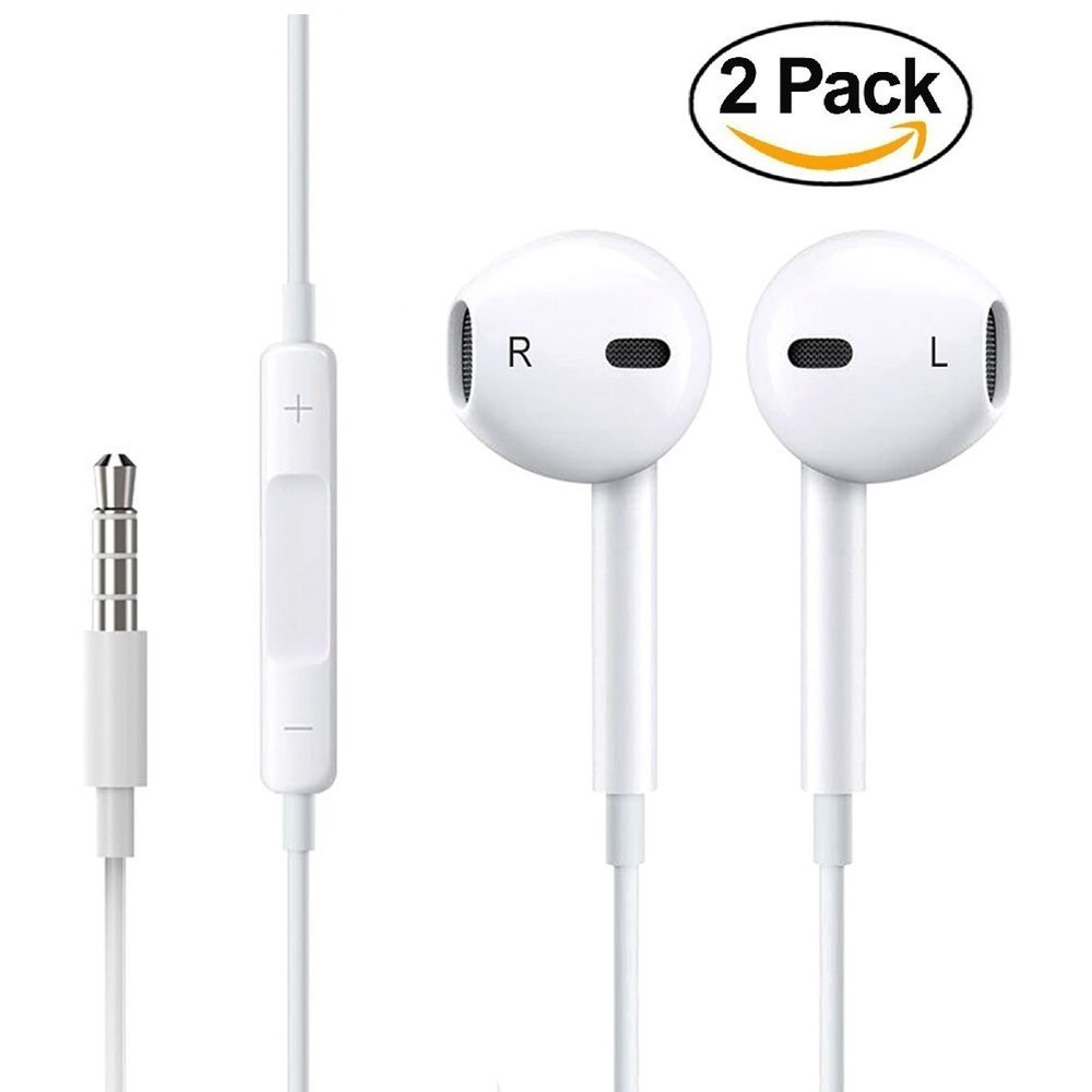 b4471ca632f Get Quotations · Earphones, Earbuds Stereo Earphones with Microphone  Headphones with Mic and Remote Control Earbuds for Apple