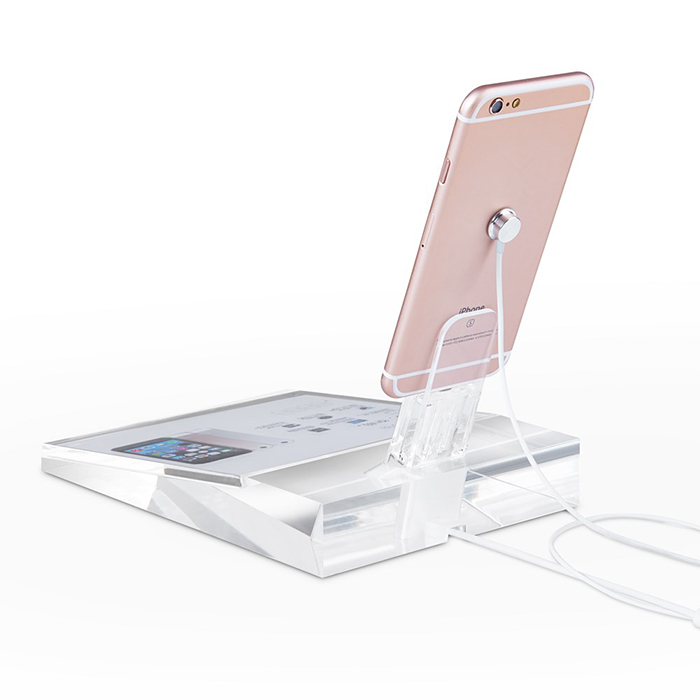 Clear Acrylic Mobile Display Stand Lucite Mobile Phone Support Exhibition for Retail Store