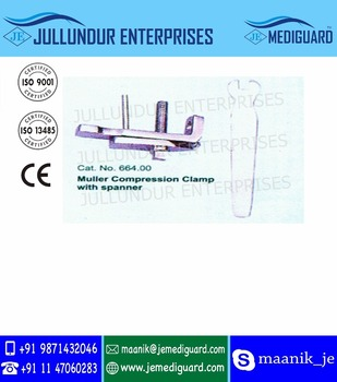 Muller Compression Clamp With Spanner - Buy Orthopedic Surgical  Instrument,Orthopedic Surgery Instruments,Orthopedic Instruments And Uses  Product on