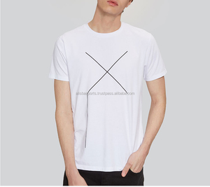 Summer New Men's White Casual T shirts Fashion Male Short-sleeved Simple Print Tops Tees Cotton