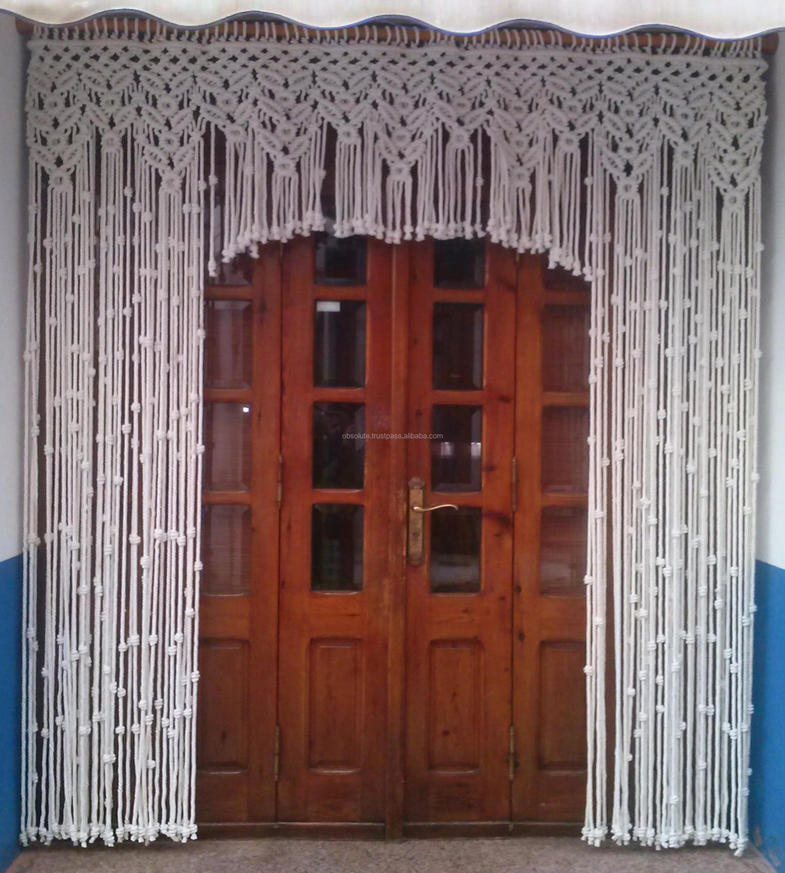 Macrame Curtains Room Divider Boho Curtain Buy Macrame Door Curtains Macrame Curtain Hanging Door Curtain Product On Alibaba Com
