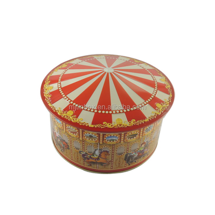 Grand Decorativa Mestiere Trinket Metallo Carousel Horse Forma Scatole di Latta, Cookie Scatole di Latta