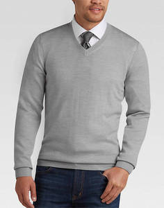 Casual Thick Wool Pullover V-Neck Winter Fashion Men Sweater