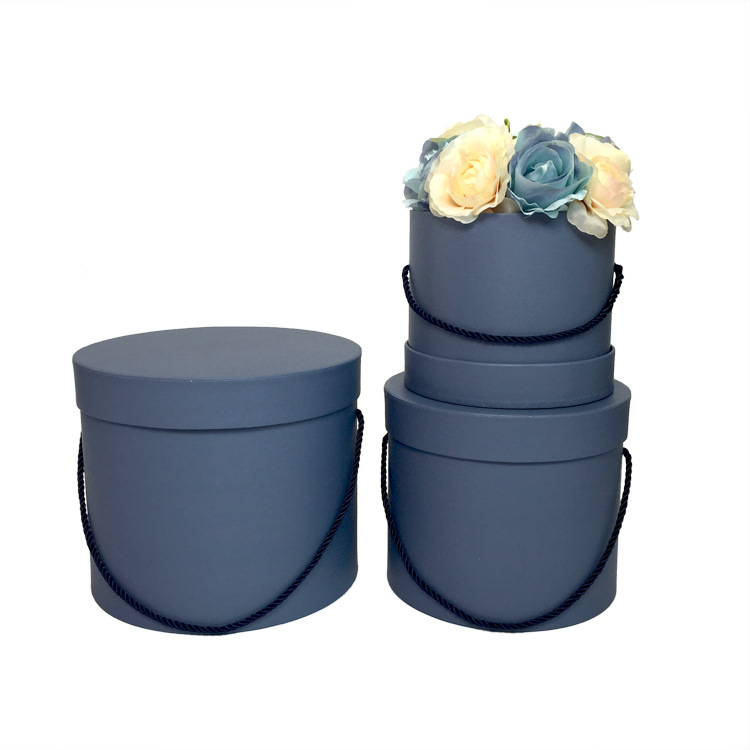 Paper Gift Packaging Artificial Flower Round Hat Shipping  Boxes For Flowers Luxury