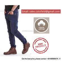 Cheap Custom Made Logo Cotton New Style Men jeans Trousers/Pants