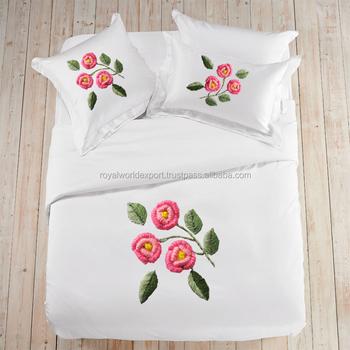 Hot Sale Cotton Ribbon Embroidery Wholesale 3d Bedsheet Cotton