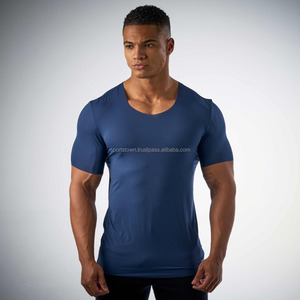 New Short Sleeves 100% Premium Quality Cotton Custom Tee Shirt Skin Fit T Shirts for Men