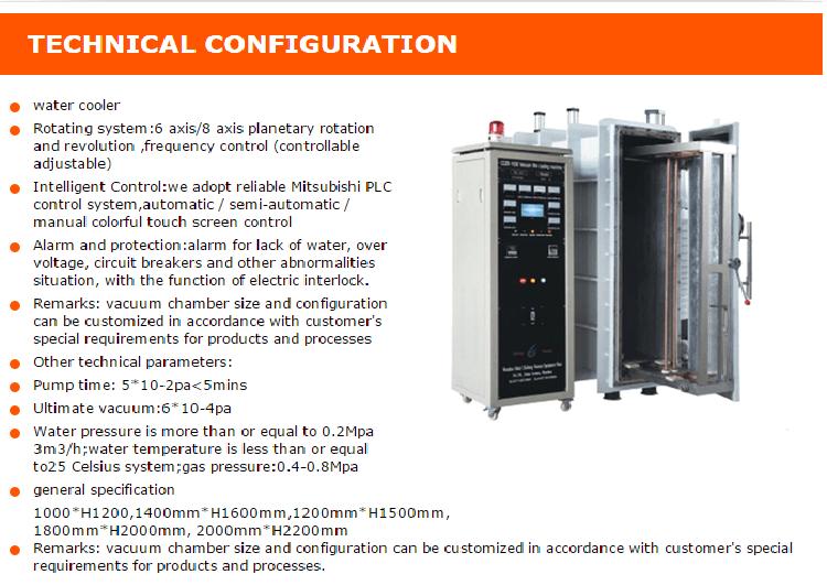 Automotive Car Lamp Thermal Evaporation Vacuum Coating Machine
