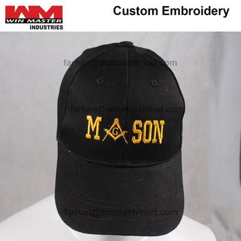 948f5f6d Masonic Snapback Black Baseball Cap Mason Logo Hat for Freemasons Shriners  black