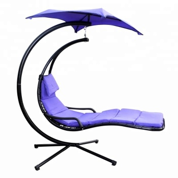 Deluxe Lounger Moon Modern Swing Chair with Umbrella