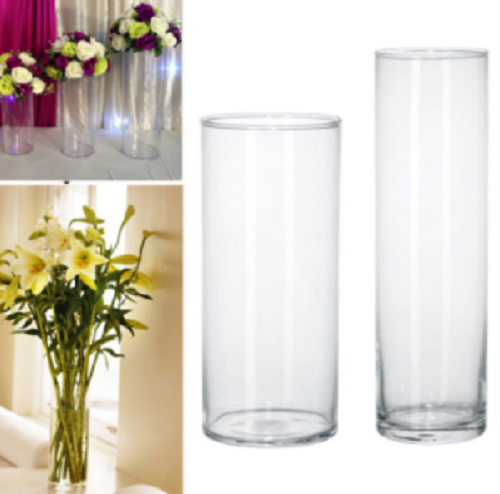 White glass vase decorative 100cm tall glass vase