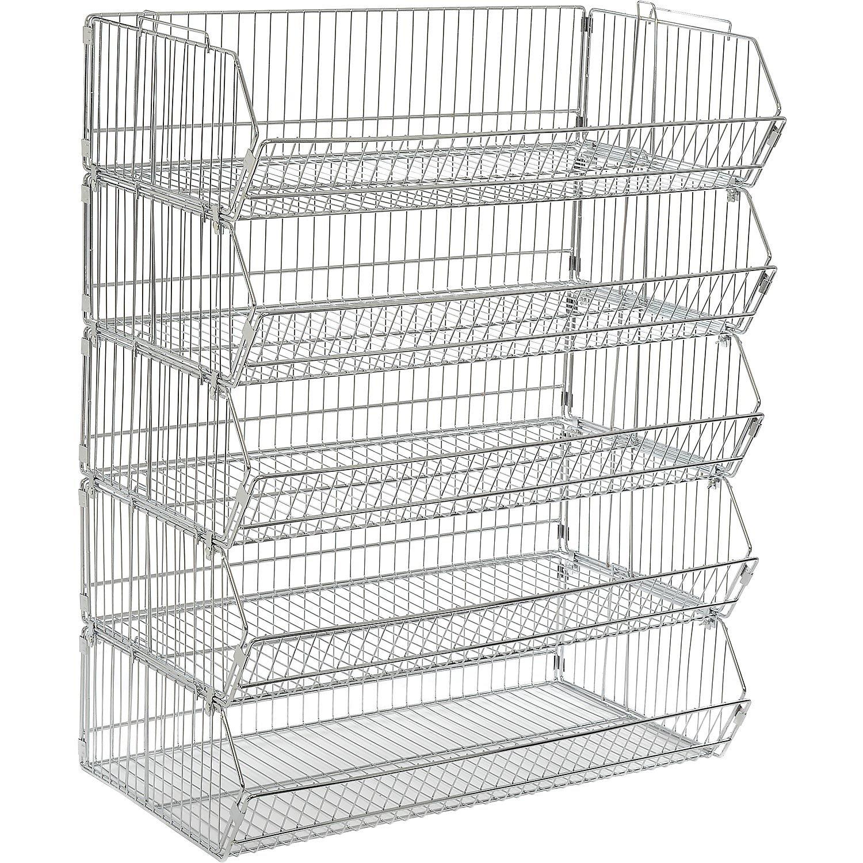 Buy Stackable Wire Storage Bin Rack, 36\