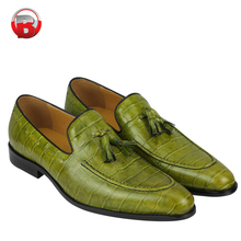 High Quality small quantity order Italian mens Woven leather loafers shoes