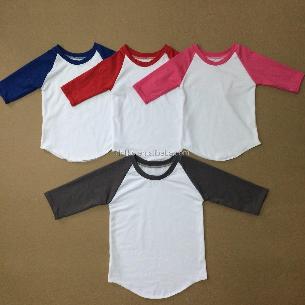 Shirt design for baby girl - Blank Baby T Shirts Baby Girls Top Design Baseball Tee Wholesale Girls Fall Clothing