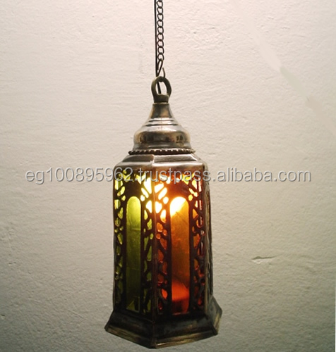 Br2 Cast Br Outdoor Pendant Lamp With Color Stained Gl Vintage Lamps Large Lighting Product On Alibaba