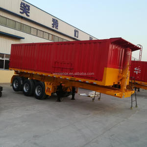 3 Axle Coal Grsin Rear Hydraulic Dump Trailer Tipper Trailer For Sale