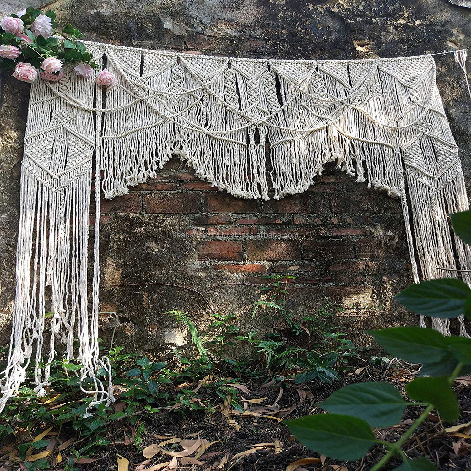 Large Macrame Wedding Backdrop Decoration Outdoors Customizable Macrame Curtain Room Divider Boho Wall Hanging Buy Large Macrame Wedding Backdrop Decoration Outdoors Christmas Wedding Backdrop Boho Cotton Macrame Wall Hanging Product On Alibaba Com