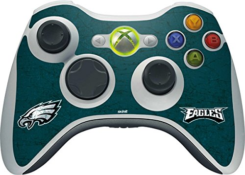 NFL Philadelphia Eagles Xbox 360 Wireless Controller Skin - Philadelphia Eagles Distressed Vinyl Decal Skin For Your Xbox 360 Wireless Controller
